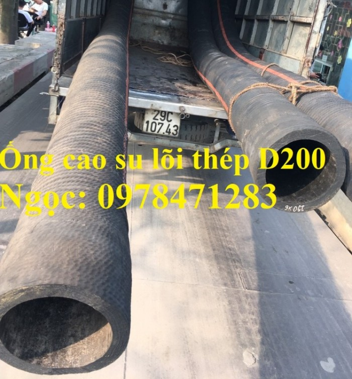 Tổng kho ống cao su lõi thép D90, 100,110,120,150,200 dùng hút cát, dẫn nước.2