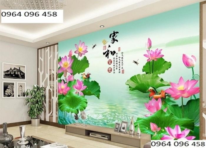 Tranh hoa sen 3d - gạch tranh 3d2