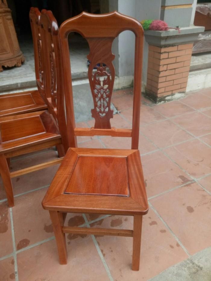 Bộ bàn ghế phòng ăn chữ nhật - gỗ xoan đào12
