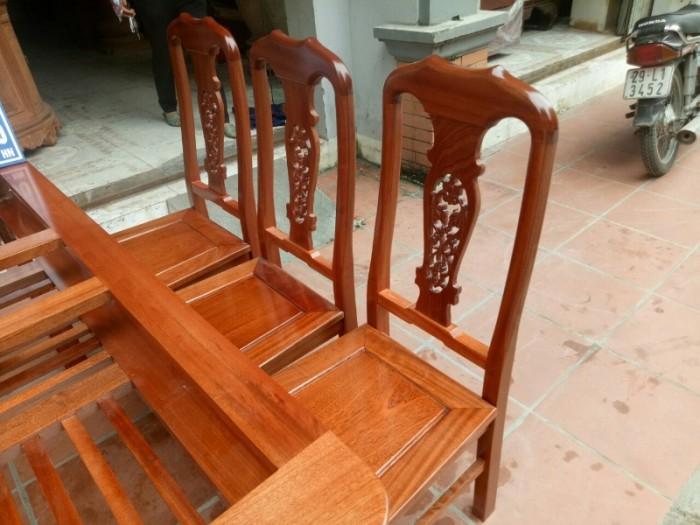 Bộ bàn ghế phòng ăn chữ nhật - gỗ xoan đào10