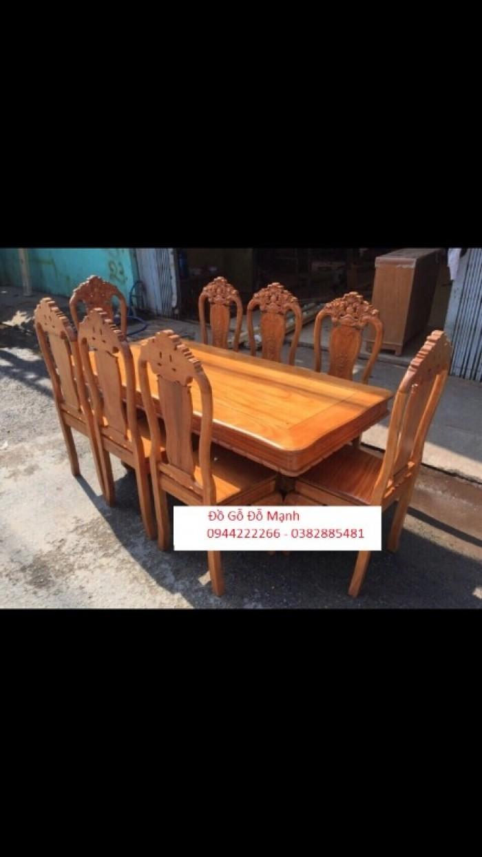Bộ bàn ghế phòng ăn gỗ gõ đỏ mẫu đơn giản4