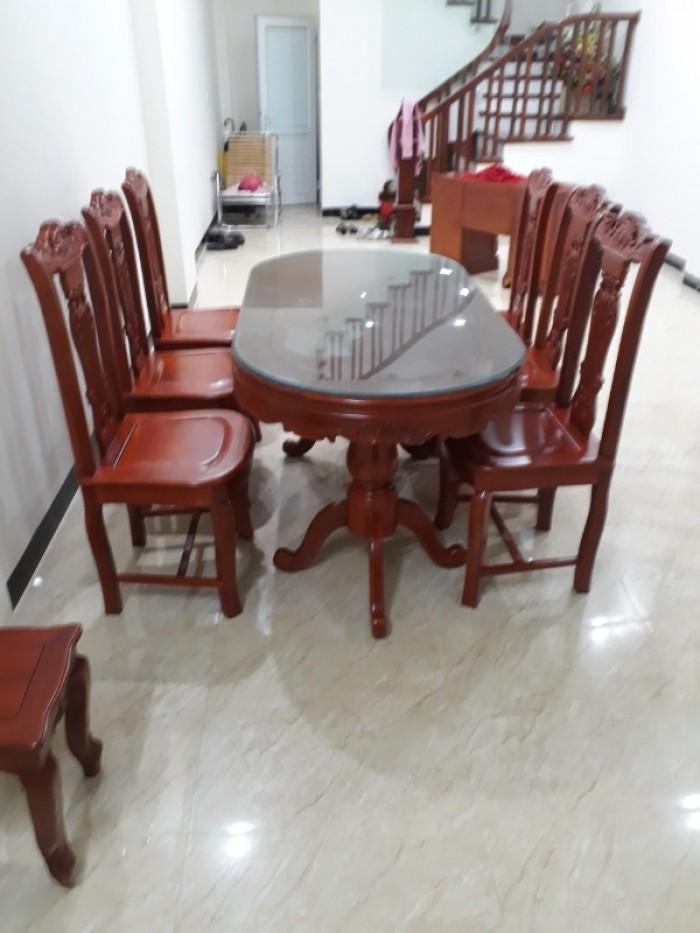 Bộ bàn ghế phòng ăn gỗ gõ đỏ mẫu đơn giản6