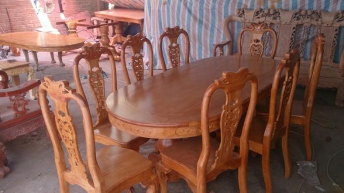 Bộ bàn ghế phòng ăn gỗ gõ đỏ mẫu đơn giản2