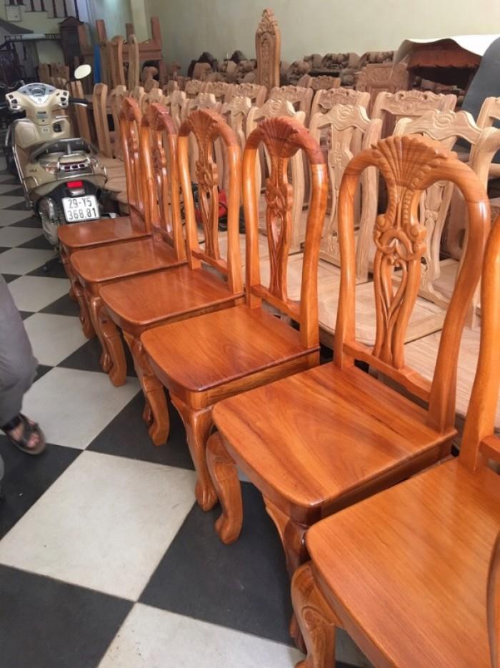 Bộ bàn ghế phòng ăn gỗ gõ đỏ mẫu đơn giản7