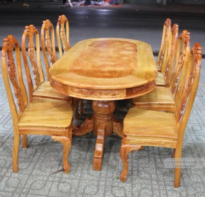 Bộ bàn ghế phòng ăn gỗ gõ đỏ mẫu đơn giản5