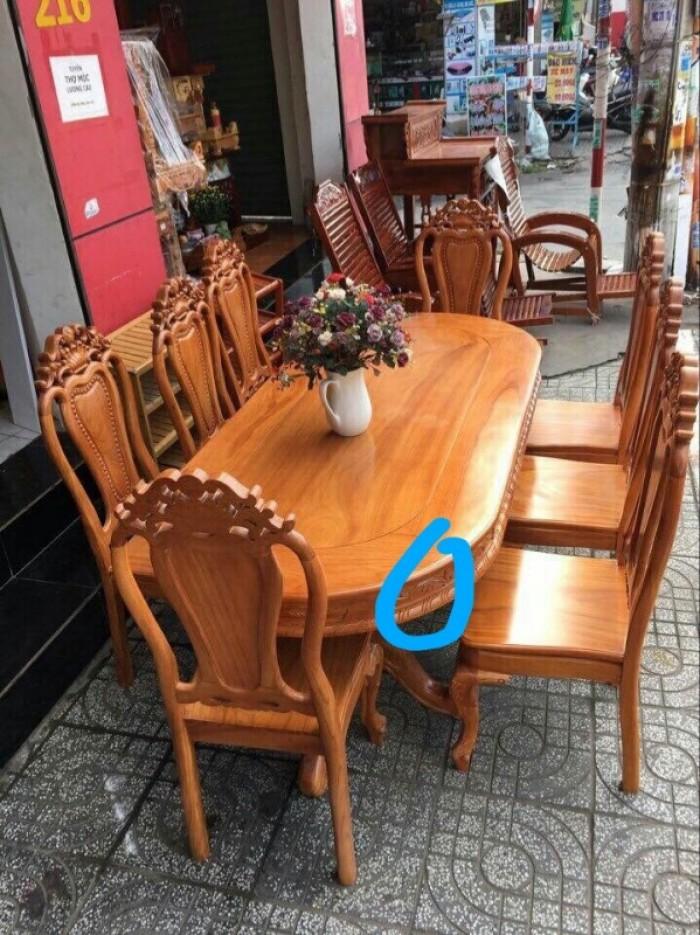 Bộ bàn ghế phòng ăn gỗ gõ đỏ mẫu đơn giản8