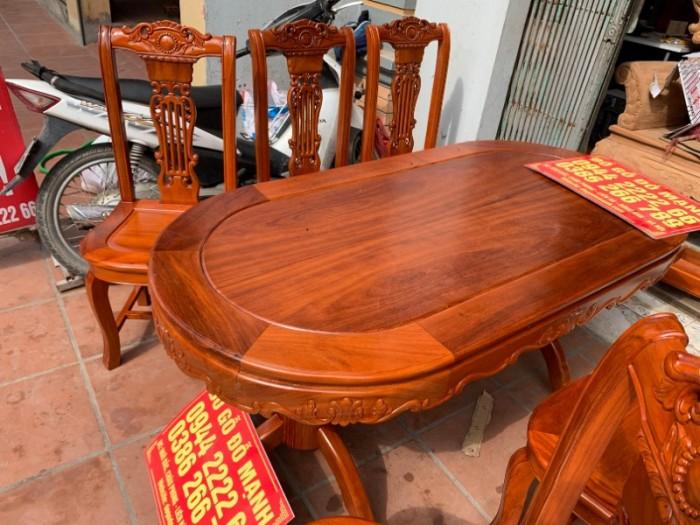 Bộ bàn ghế phòng ăn gỗ gõ đỏ mẫu đơn giản9