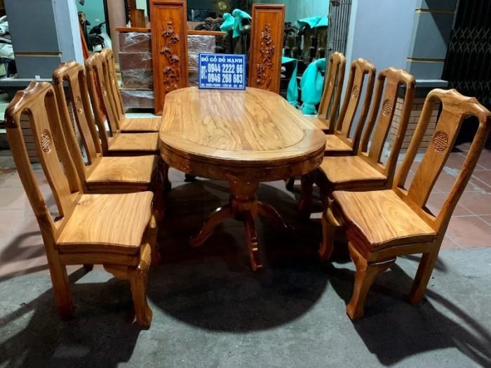 Bộ bàn ghế phòng ăn gỗ gõ đỏ mẫu đơn giản13
