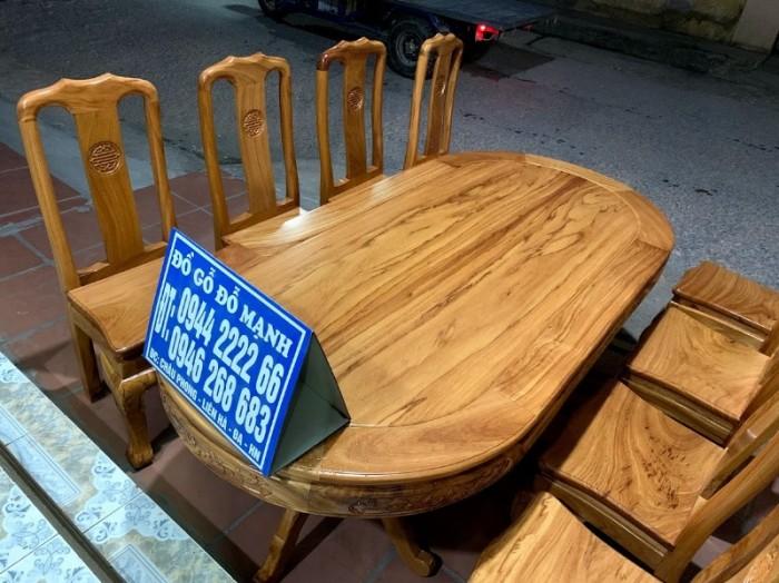 Bộ bàn ghế phòng ăn gỗ gõ đỏ mẫu đơn giản12