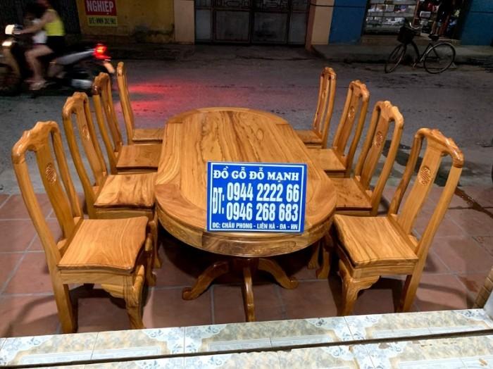 Bộ bàn ghế phòng ăn gỗ gõ đỏ mẫu đơn giản14