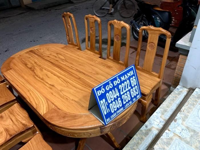 Bộ bàn ghế phòng ăn gỗ gõ đỏ mẫu đơn giản15
