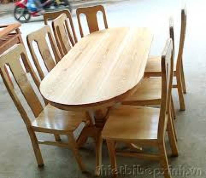 Bộ bàn ghế ăn kiểu vòm gỗ sồi nga