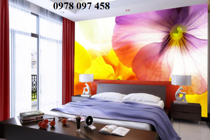Tranh phòng ngủ cao cấp- tranh gạch 3D3