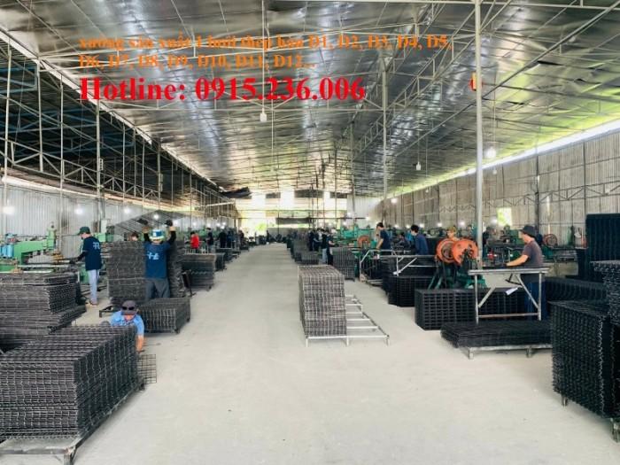 Xưởng sản xuất lưới thép hàn D3, D4, D5, D6 đến D12 phân phối toàn quốc0