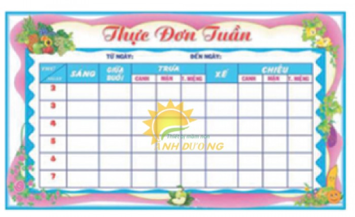Chuyên cung cấp bảng biểu, bảng tuyên truyền cho trường lớp mẫu giáo2