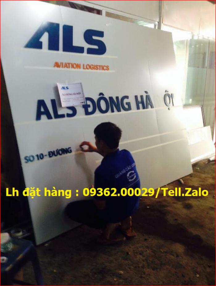 Xưởng chuyên cung cấp biển công ty mica, đồng ,inox tại Hà Nội2