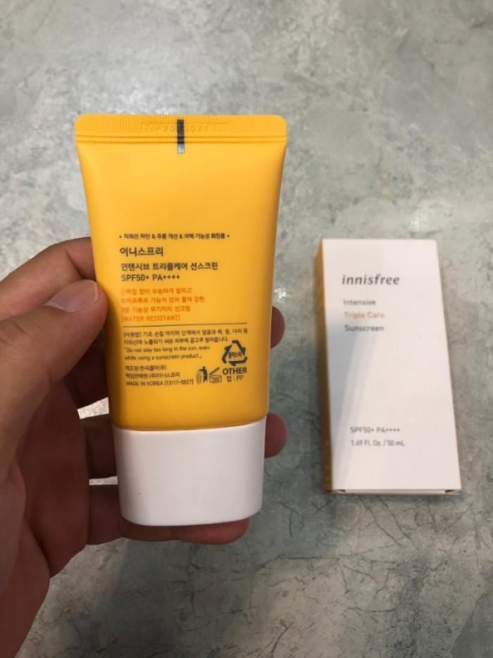 Kem chống nắng Innisfree Intensive Triple Care Suncreen xách tay Hàn Quốc4