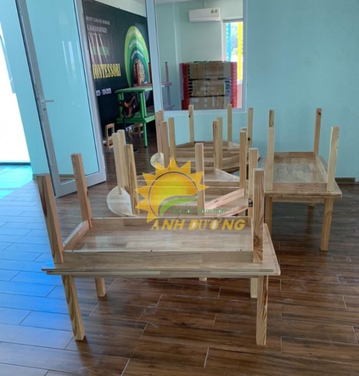 Cung cấp bàn ghế gỗ mầm non giá rẻ, uy tín, chất lượng nhất6