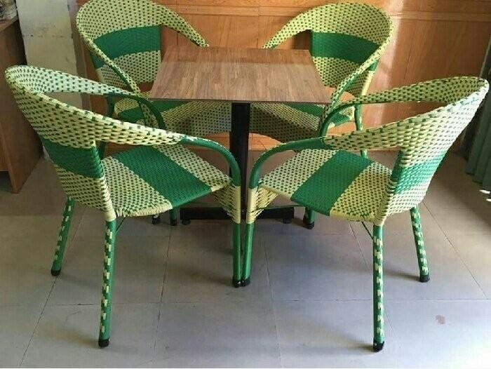 Bộ bàn ghế cafe mây nhựa giá tốt