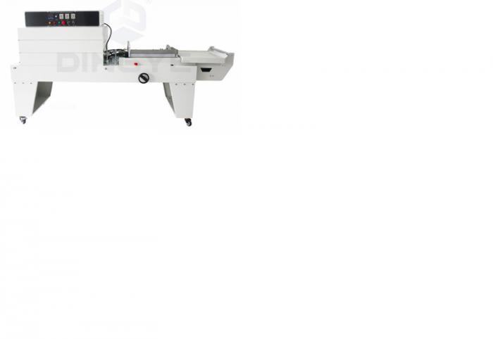 Máy cắt dán màng co POF bán tự động, máy đóng gói màng co hộp tự động0