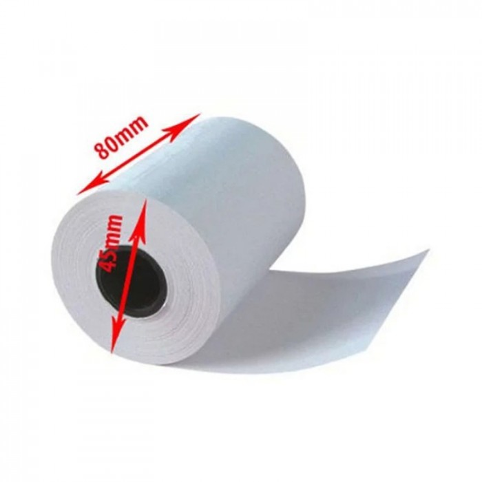 Thùng 100 cuộn giấy nhiệt in bill K80 phi 451