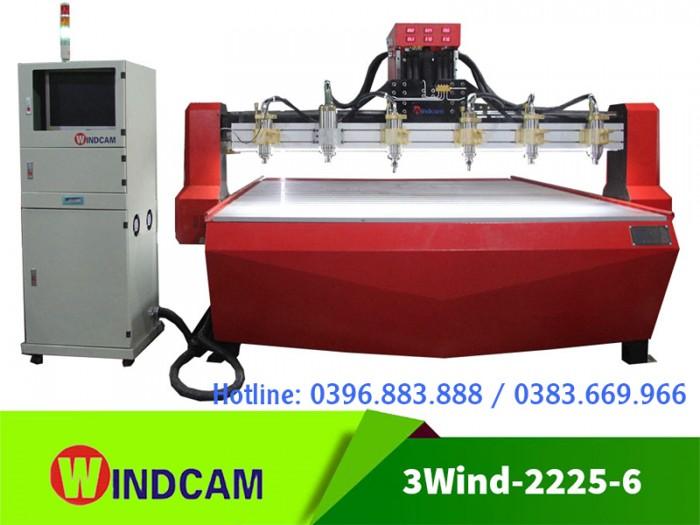 Máy đục gỗ CNC 2225-6 mũi | Máy khắc phù điêu gỗ | Máy CNC gỗ0