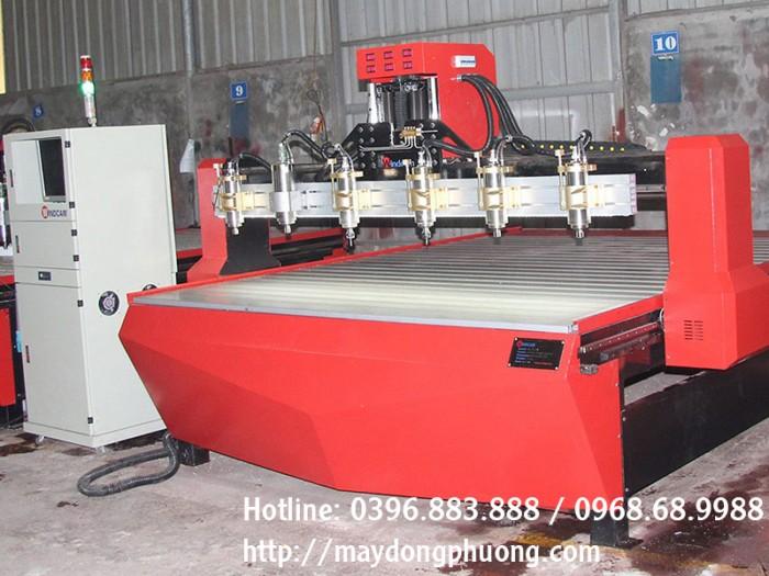 Máy đục gỗ CNC 2225-6 mũi | Máy khắc phù điêu gỗ | Máy CNC gỗ3