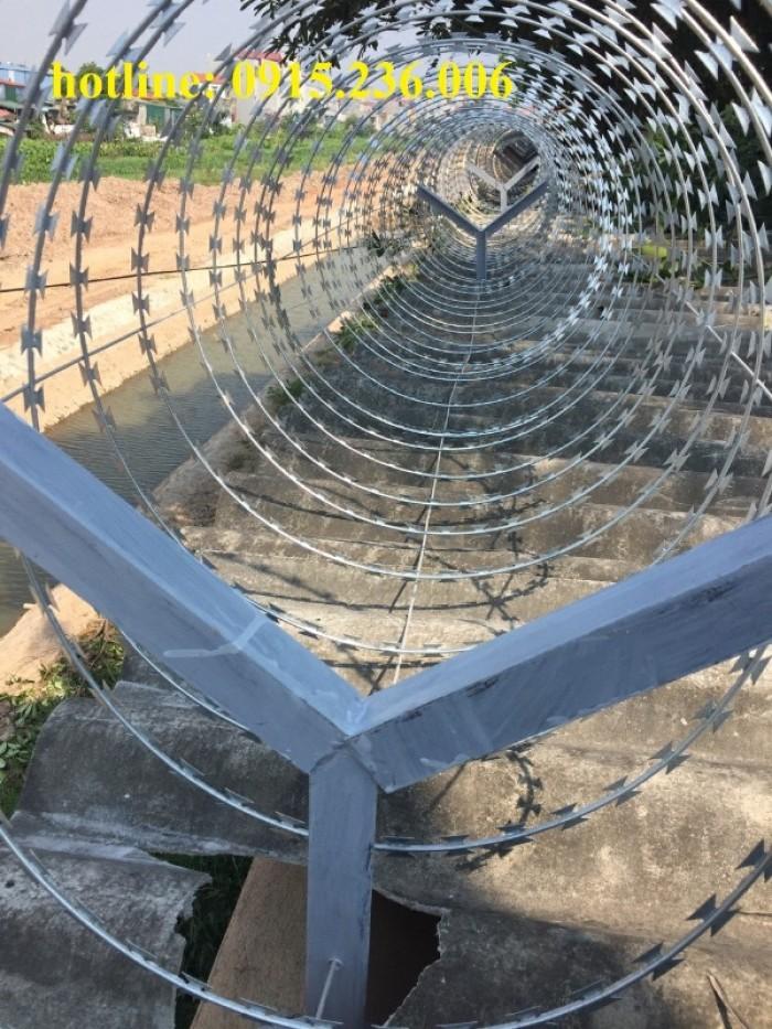 Báo giá thép gai hình dao, hàng rào thép gai hình dao2