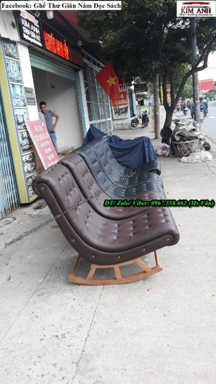 ghế nằm ngủ trưa bập bênh giá rẻ 4