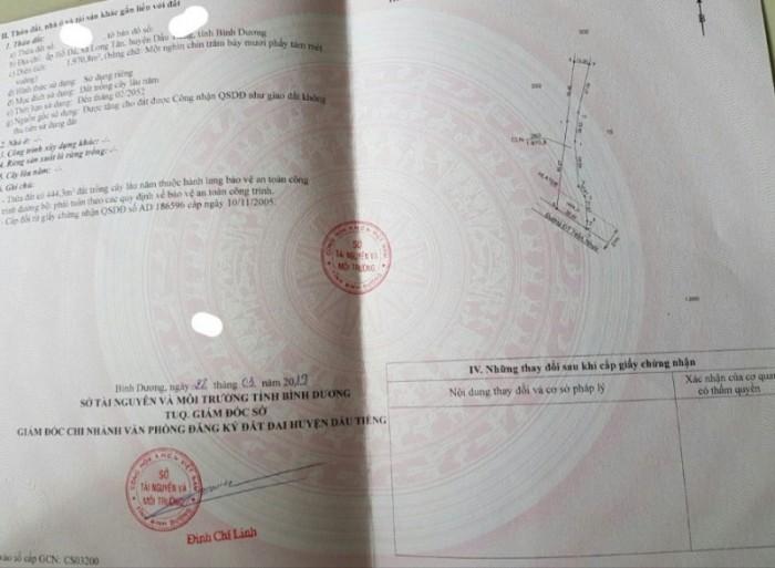 Bán 1,8 hécta, Long Nguyên, Bàu Bàng, đường nhựa ĐT 749A, SHR 18 tỷ TL.4
