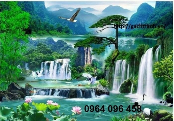 Tranh treo tường quán cafe tranh phong cảnh1