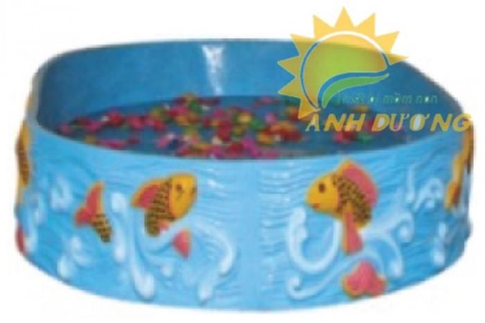 Hồ câu cá hình tròn dành cho trường mầm non, sân chơi trẻ, khu vui chơi0