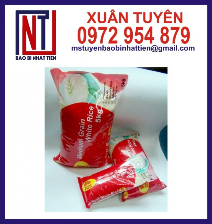 Chuyên cung cấp in ấn túi gạo 5kg PA.PE0