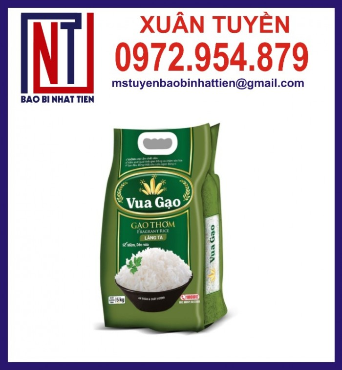Chuyên cung cấp in ấn túi gạo 5kg PA.PE1