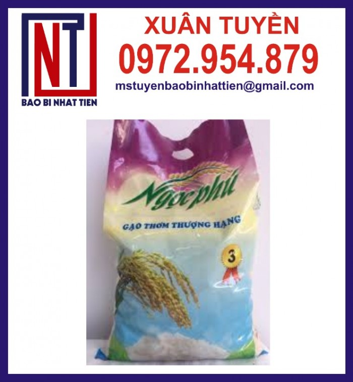 Chuyên cung cấp in ấn túi gạo 5kg PA.PE3