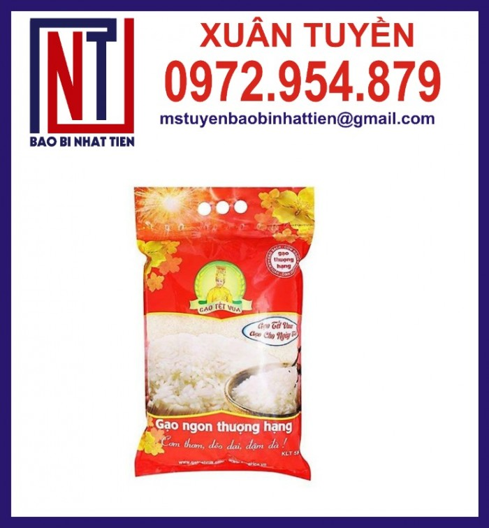 Chuyên cung cấp in ấn túi gạo 5kg PA.PE6