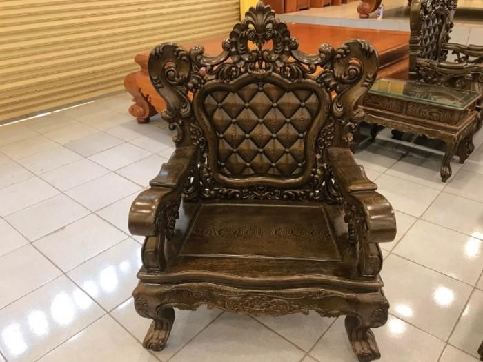 Bộ bàn ghế Hoàng Gia gỗ Mun 6 món0