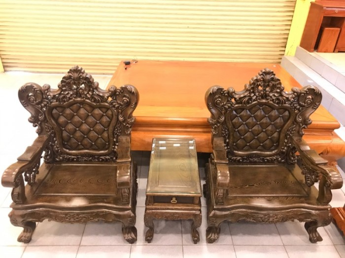 Bộ bàn ghế Hoàng Gia gỗ Mun 6 món3