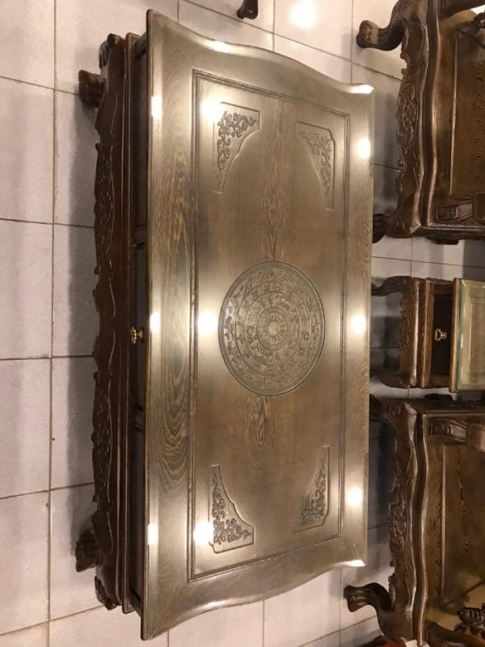 Bộ bàn ghế Hoàng Gia gỗ Mun 6 món5