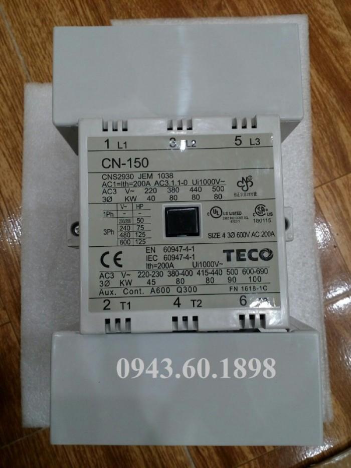 Contactor Teco CN-150 Sản xuất Teco Đài Loan0