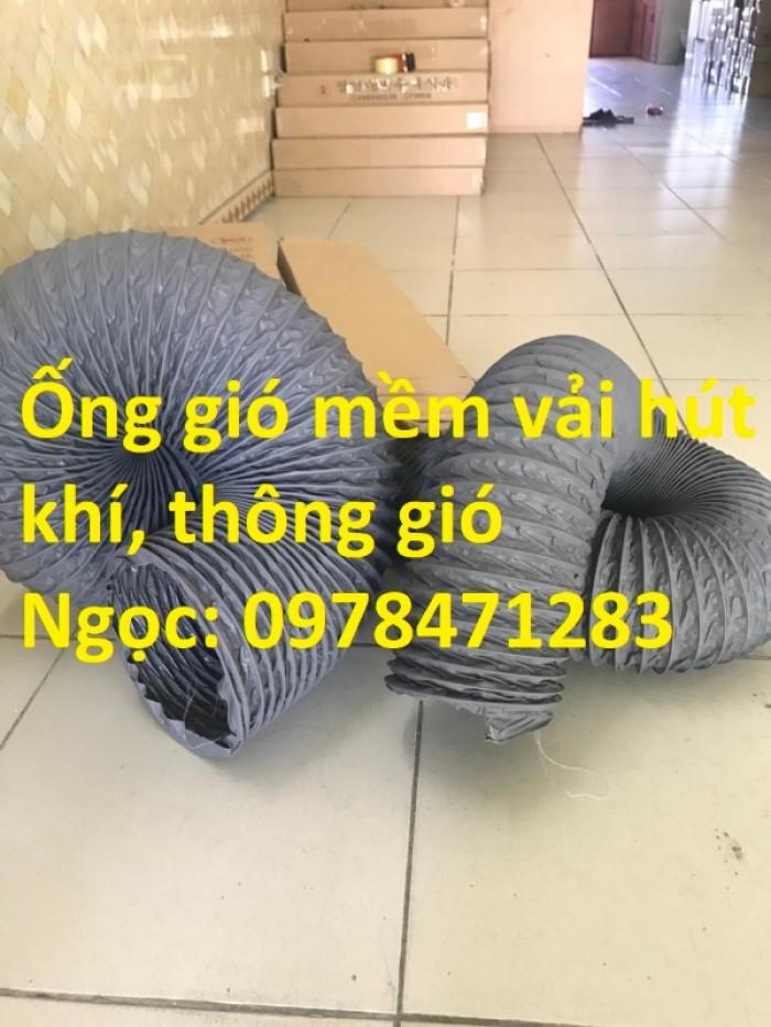 Ống gió mềm vải D200, D250, D300, D350 chuyên dẫn gió, thông khí, hút bụi.6