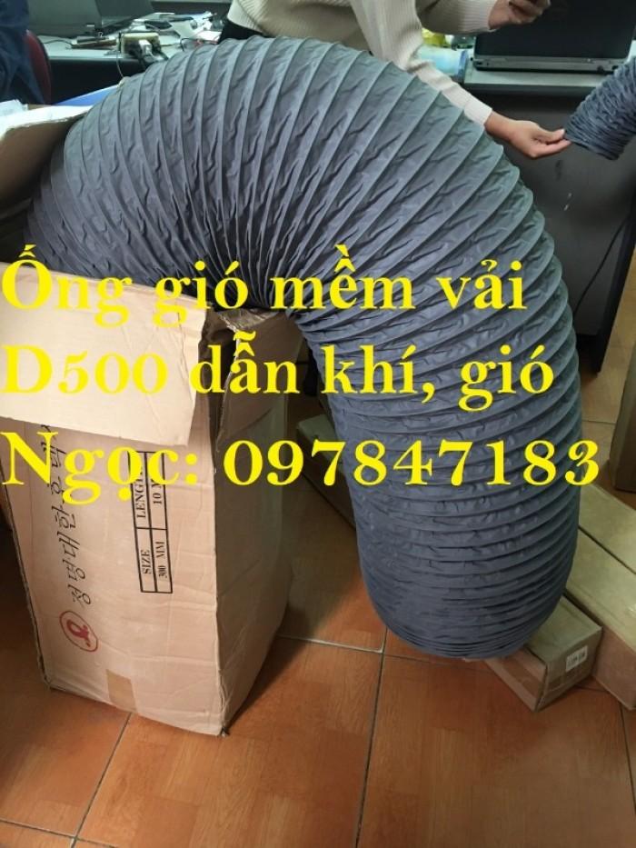 Ống gió mềm vải D200, D250, D300, D350 chuyên dẫn gió, thông khí, hút bụi.3