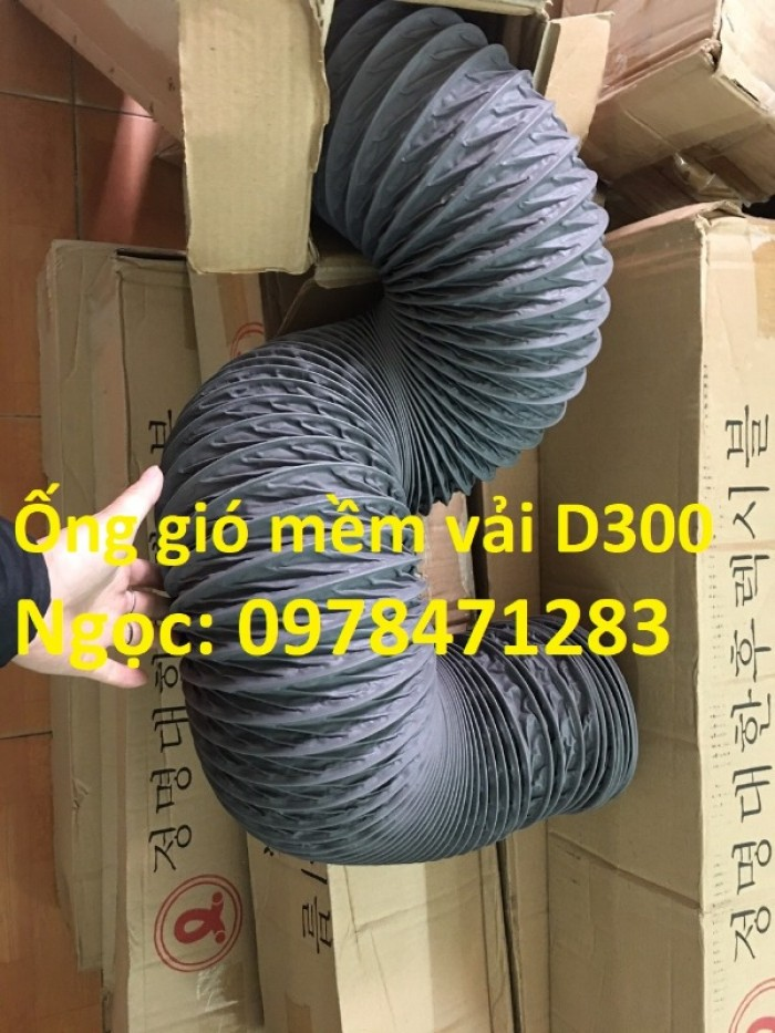 Ống gió mềm vải D200, D250, D300, D350 chuyên dẫn gió, thông khí, hút bụi.5