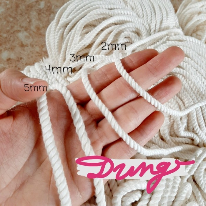 Dây thừng cotton trang trí làm mành rèm macrame dreamcaster5