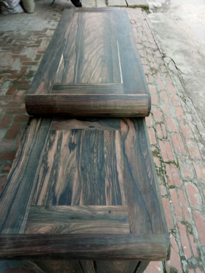Kệ tivi kiểu nồi giữa gỗ mun hoa11