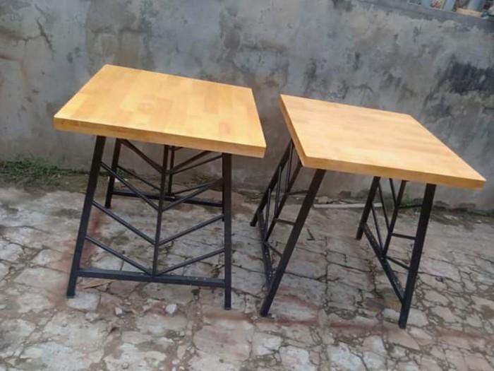 Xả kho lô bàn ghế gỗ chân sắt giá rẻ..1