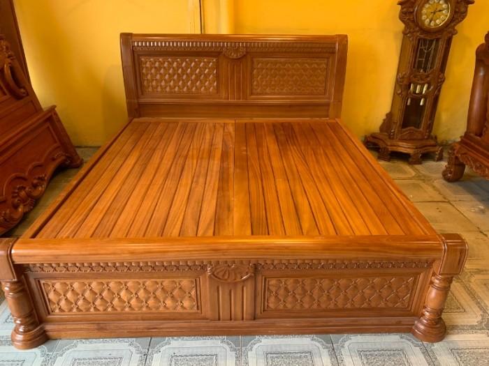 Giường ngủ hoa mai gỗ gõ đỏ đẹp giá rẻ tại Sài Gòn2