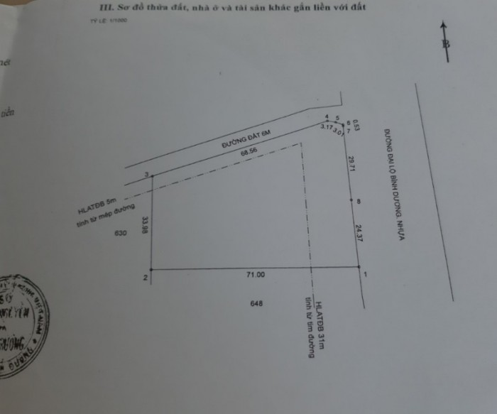 Bán lô gó 2 MT Đại Lộ Bình Dương, TT Lai Uyên, DT3283m2, SHR, 15 tỷ TL. Liên1