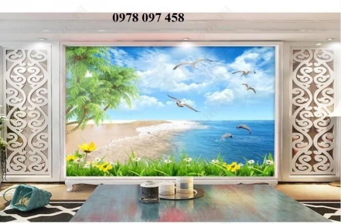 Tranh bãi biển- gạch tranh 3D0