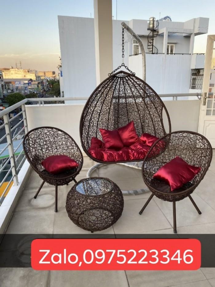 Combo xích đu và bàn ghế cùng màu mẫu giá tại nơi sản xuất5
